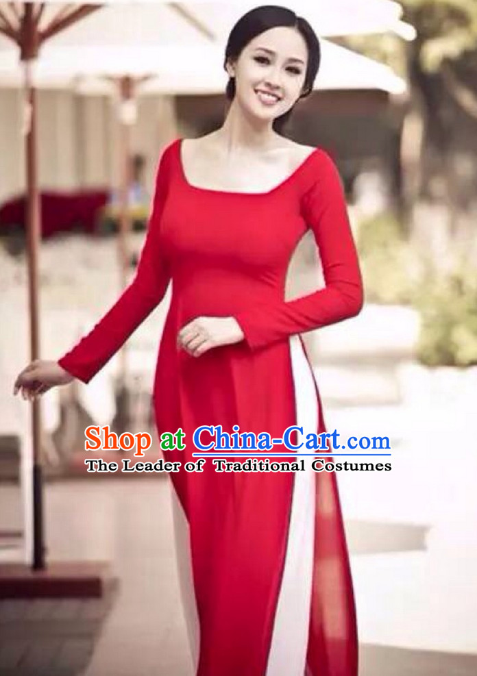 Low Collar Modern Style Ao Dai for Women