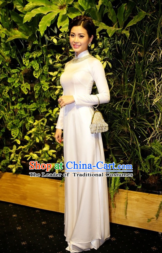 Party Wear Traditional Vietnamese Clothing Ao Dai
