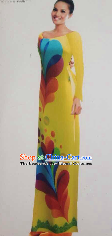 Traditional Vietnamese Causal Dresses for Women