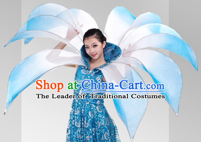 Chinese Stage Celebration Flower Dancewear Dancing Costumes Complete Set for Women