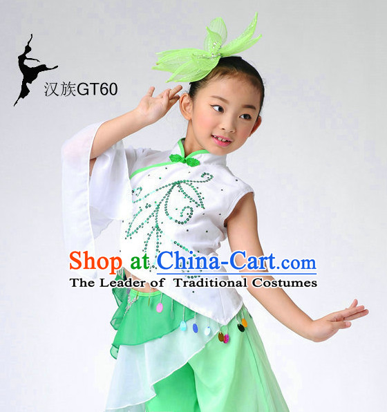 Chinese Stage Performance Ethnic Dancewear Dancing Costume Complete Set for Girls
