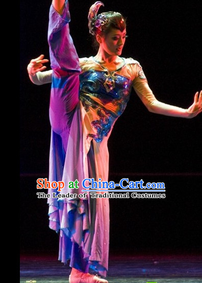 Chinese Professional Stage Performance Solo Dancewear Dance Costume Complete Set for Women