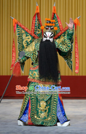 Chinese Peking Opera Da Kao Fighting Costumes Complete Set