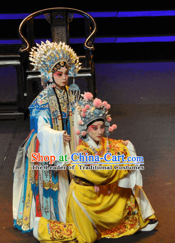 Ancient Chinese Opera Princess Costumes and Hat Complete Set for Women