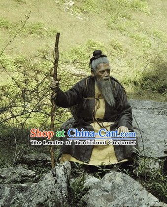Ancient Chinese Old Man Clothing Costumes