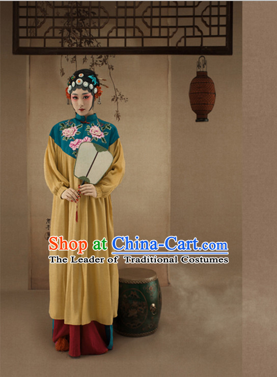 Chinese Opera Costumes and Wigs and Hair Jewelry Complete Set