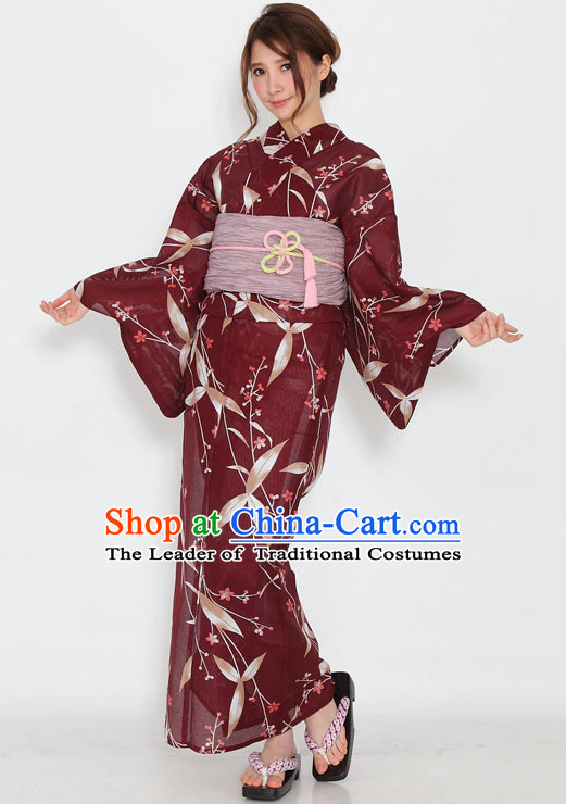 Top Authentic Traditional Japanese Kimonos Kimono Dress Yukata Clothing Robe Garment Complete Set For Women Ladies