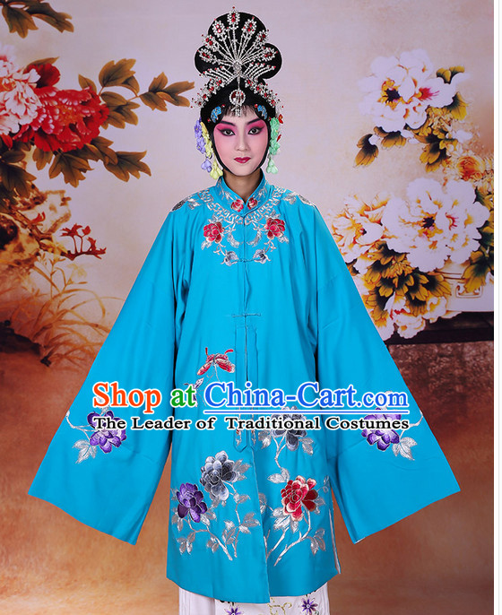 Ancient Chinese Beijing Opera Costumes Peking Opera Hua Dan Princess Costume and Hair Pieces Complete Set for Women