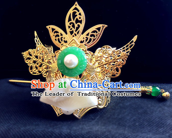 Ancient Chinese Prince Handmade Crown Headwear Head Pieces