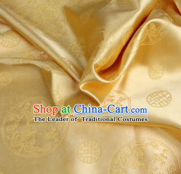 Chinese Traditional Gold Brocade Dragon Fabric