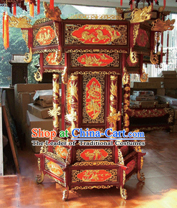 2 Meters High Red Golden Dragon Chinese Classical Handmade and Carved Hanging Palace Lantern