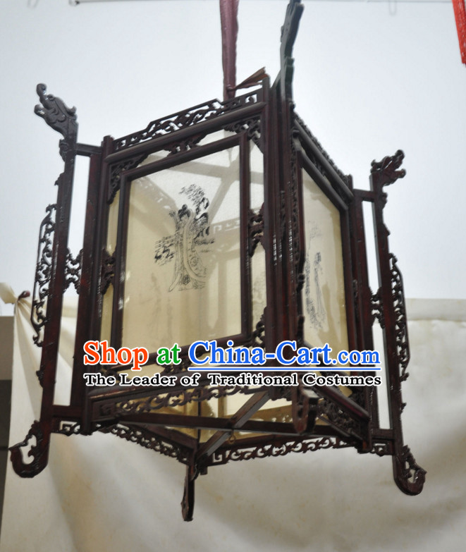 Song Dynasty Chinese Classical Handmade and Carved Hanging Palace Lantern