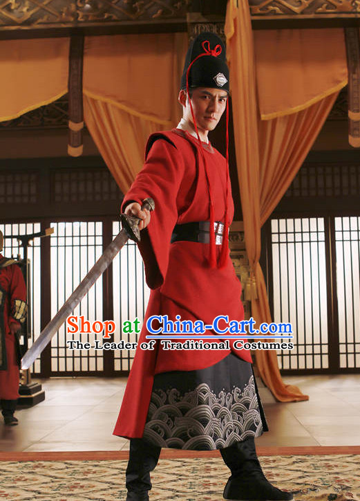 Ancient Chinese Swordsman Knight Costumes for Men