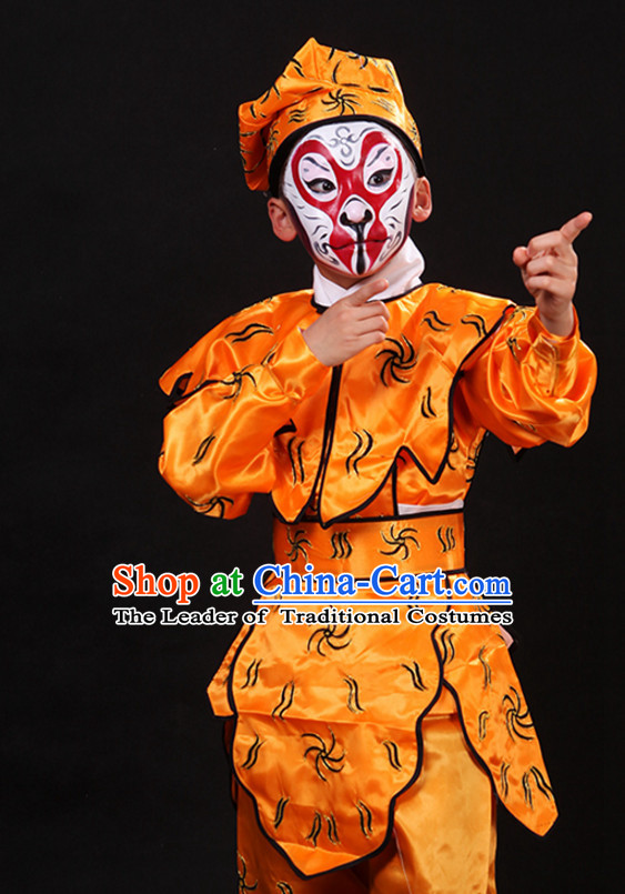 Top Chinese Lunar Monkey Year Sun Wukong Monkey King Stage Performance Opera Costumes Complete Set for Kids or Adults