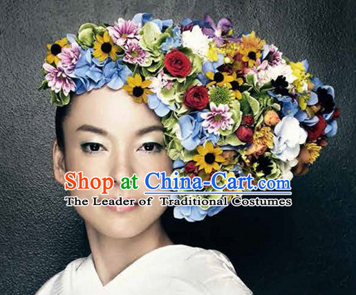 Traditional Japanese Handmade Flower Headwear Hair Accessories