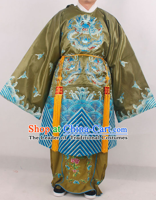 Traditional Chinese Opera Stage Performance Queen Embroidered Dragon Costumes