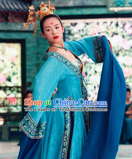 Ancient Chinese Long Water Sleeve Dance Costumes for Women