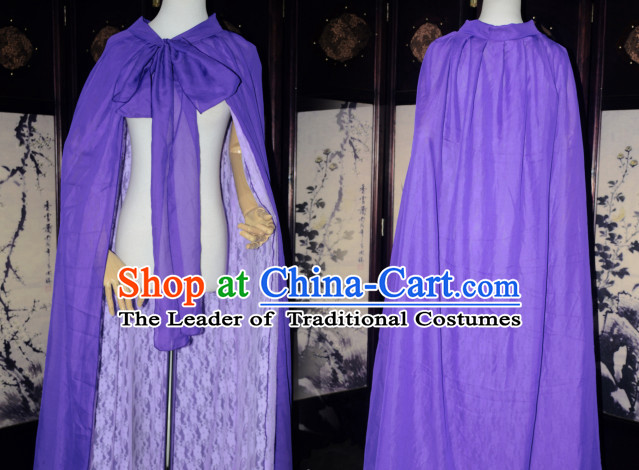 Deep Purple Traditional Chinese Classical Mantle Cape