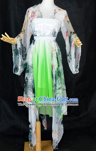 Ancient Chinese Classical Dance Costume Complete Set for Women or Girls