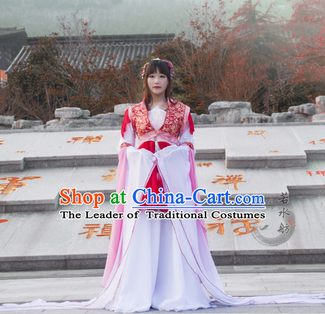 Ancient Chinese Classical Fairy Costume Complete Set for Women or Girls