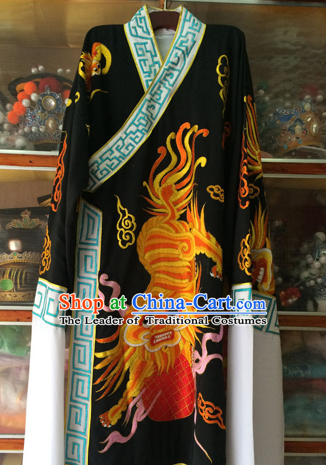 Ancient Chinese Opera Embroidered Kylin Costumes Complete Set for Men