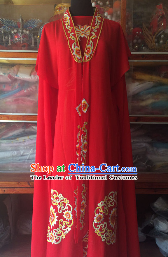 Ancient Chinese Opera Embroidered Wedding Dress Complete Set for Women
