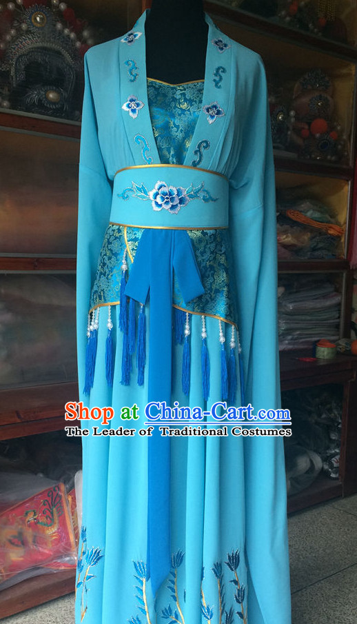 Ancient Chinese Opera Embroidered Water Sleeve Dance Costume Complete Set for Women