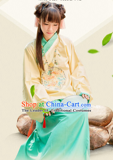 Chinese Ming Dynasty Girls Clothing Hanfu Costume Han Fu Clothing for Sale
