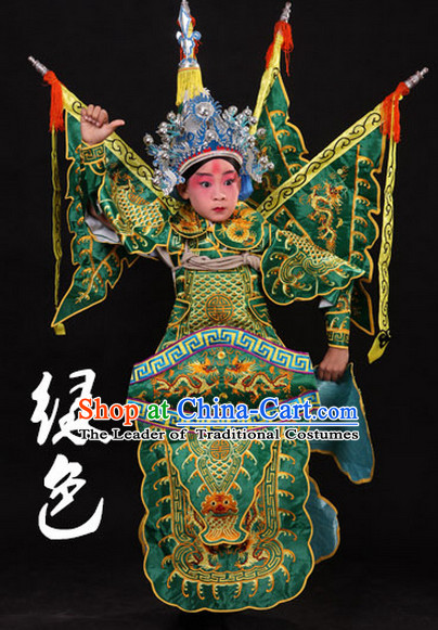 Chinese Classic Peking Opera Costume Beijing Opera Costumes Wusheng Armor Complete Set for Adults Kids Men Boys