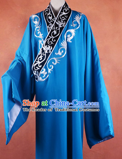 Top Embroidered Chinese Classic Peking Opera Costume Beijing Opera Long Robe Costumes Complete Set for Adults Kids Men Boys