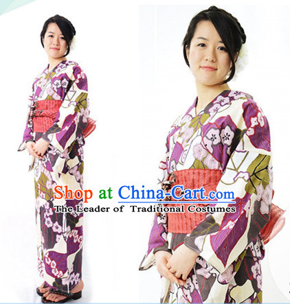 Top Authentic Traditional Japanese Kimonos Kimono Dress Yukata Clothing Robe Garment Complete Set for Women Ladies Girls