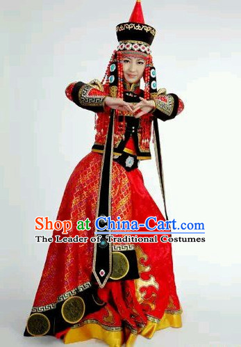 Mongolian Princess Clothing and Hat Complete Set for Women