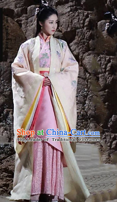 Ancient Chinese Empress Royal Dresses Imperial Princess Robe Clothes Complete Set