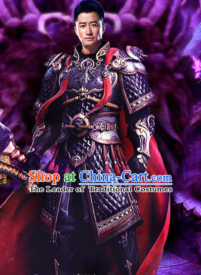 Chinese Ancient General Armor Clothing Complete Set for Men