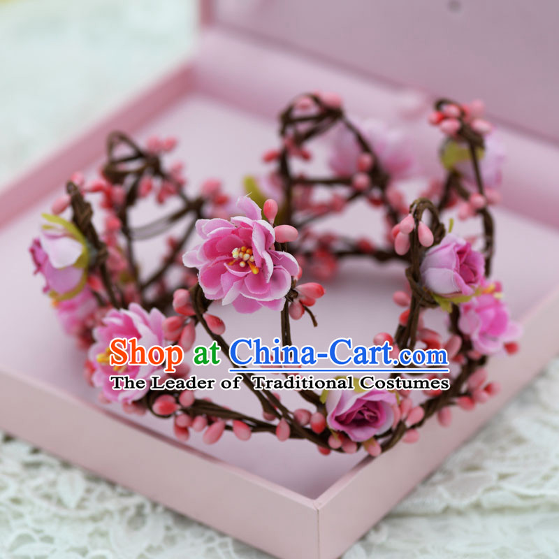 Traditional Jewelry Accessories, Princess Bride Royal Crown, Wedding Hair Accessories, Baroco Style Flower Headwear for Women