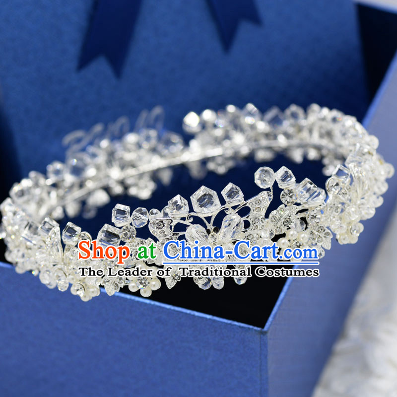 Traditional Jewelry Accessories, Princess Bride Wedding Hair Accessories, Baroco Style Flowers Crystal Headwear for Women