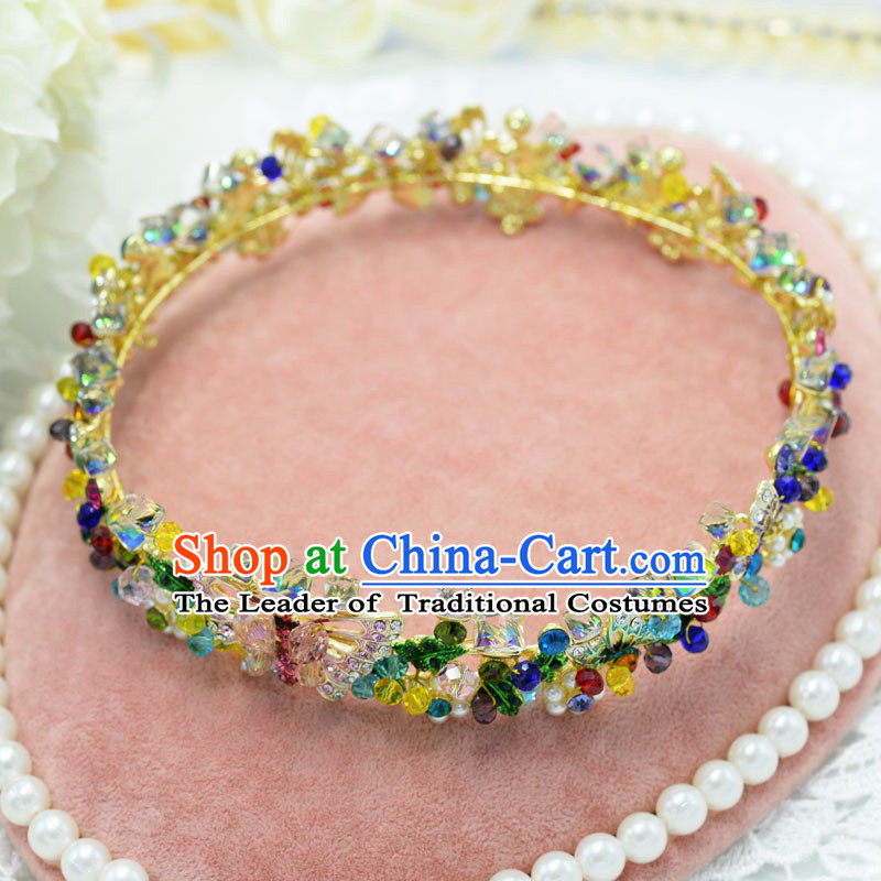Traditional Jewelry Accessories, Princess Bride Wedding Hair Accessories, Baroco Style Flowers Headwear for Women