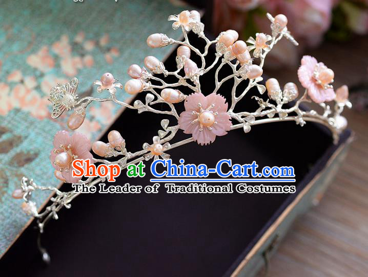 Traditional Jewelry Accessories, Palace Princess Bride Royal Crown, Wedding Hair Accessories, Baroco Style Flowers Headwear for Women
