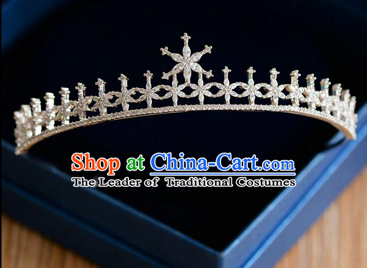 Traditional Jewelry Accessories, Palace Princess Bride Royal Crown, Wedding Hair Accessories, Baroco Style Crystal Stars Headwear for Women