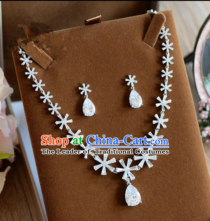 Traditional Jewelry Accessories, Palace Princess Necklace, Wedding Accessories Headwear, Baroco Style Crystal Earrings for Women