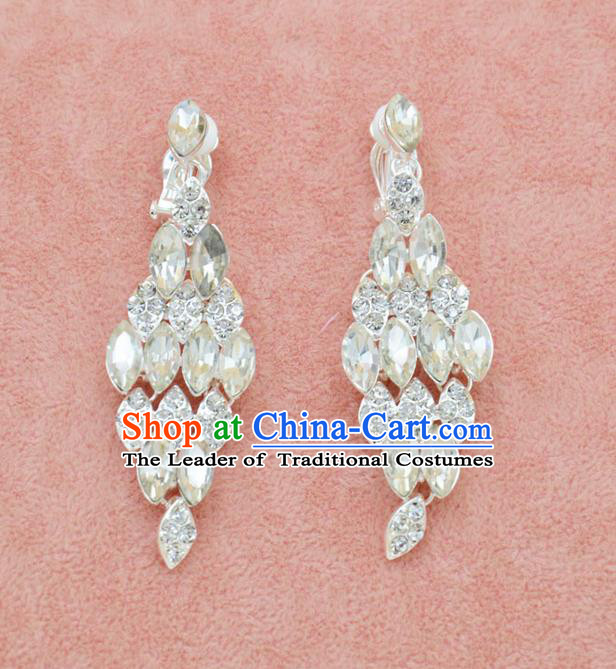 Traditional Wedding Jewelry Accessories, Palace Princess Bride Accessories, Wedding Earring, Baroco Style Earrings for Women