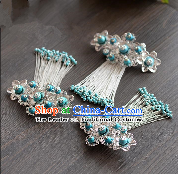 Chinese Ancient Style Hair Jewelry Accessories, Hairpins, Hanfu Xiuhe Suits Headwear, Traditional Headdress, Imperial Empress Handmade Hair Fascinators for Women
