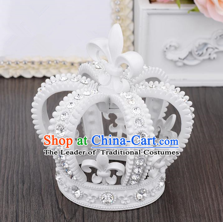 Traditional Jewelry Accessories, Palace Princess Bride Royal Crown, Imperial Retro Royal Crown, Wedding Hair Accessories, Baroco Style Headwear for Women