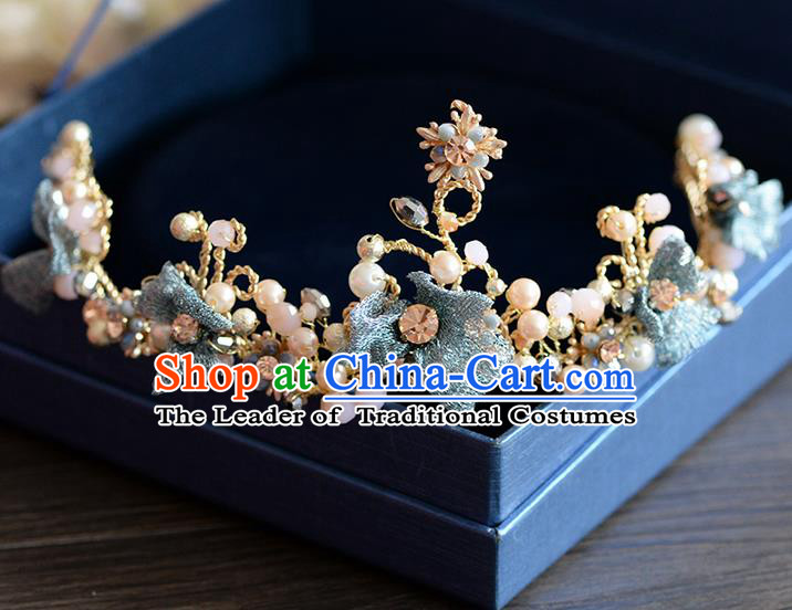 Traditional Jewelry Accessories, Palace Princess Bride Royal Crown, Imperial Royal Crown, Wedding Hair Accessories, Baroco Style Pearl Flowers Headwear for Women