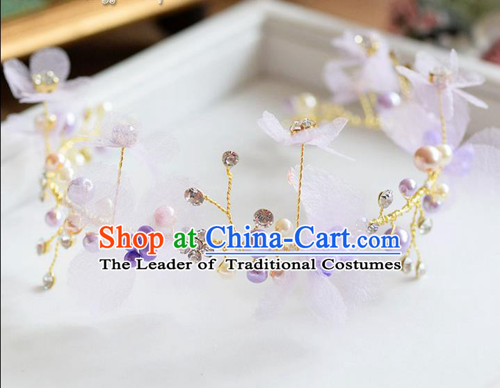 Traditional Jewelry Accessories, Princess Hair Accessories, Bride Wedding Hair Accessories, Headwear, Baroco Style Pearl Hair Claw for Women