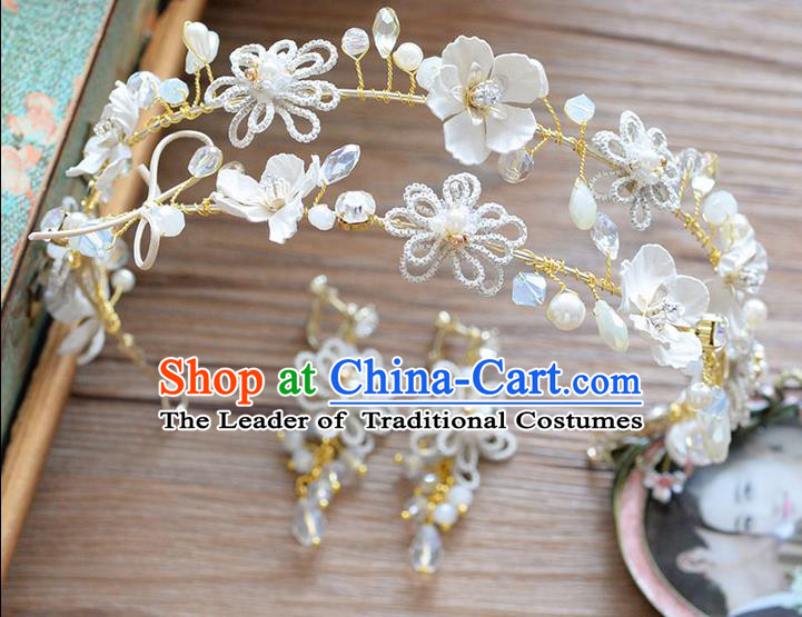 Traditional Jewelry Accessories, Princess Wedding Hair Accessories, Bride Wedding Hair Accessories, Headwear, Baroco Style Handmade Pearl Crystal Hair Claw for Women