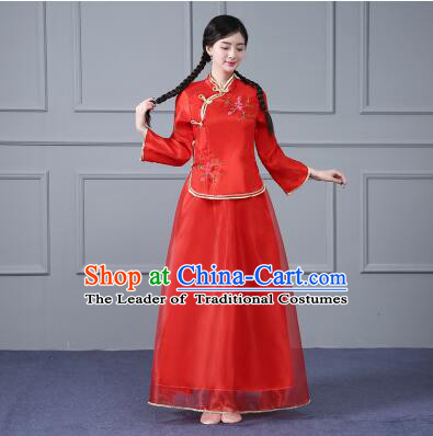 Chinese Traditional Costume Min Guo Time Girl Dress Women Clothing Nobel Lady Female