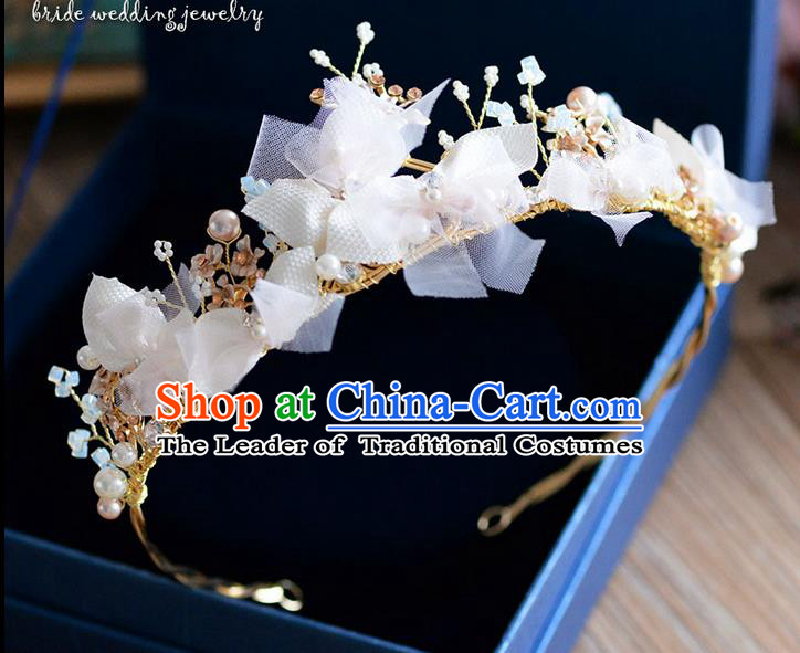 Traditional Jewelry Accessories, Princess Wedding Hair Accessories, Bride Wedding Hair Accessories, Headwear, Baroco Style Handmade Crystal Pearl Hair Claw for Women