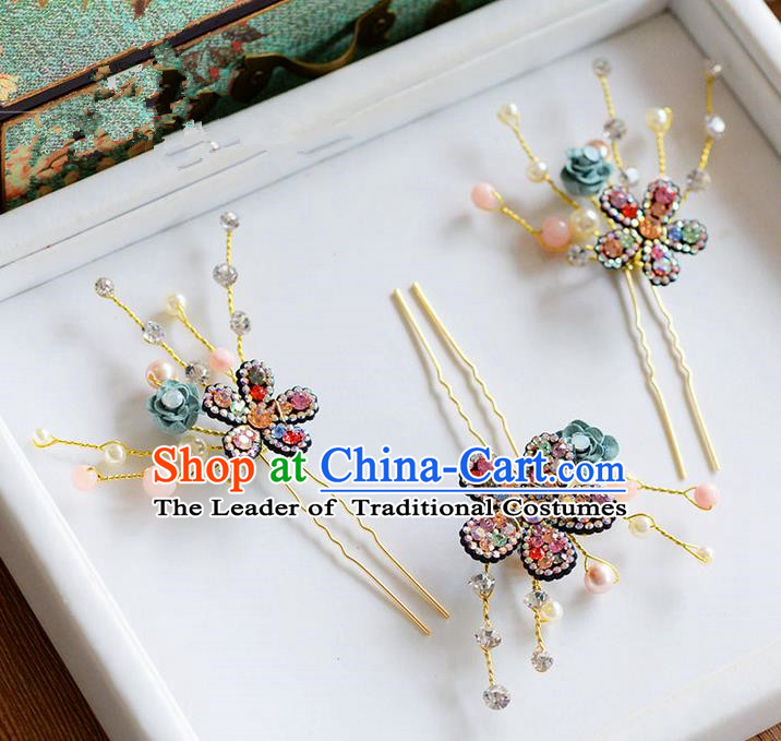 Traditional Jewelry Accessories, Princess Wedding Hair Accessories, China Bride Wedding Hair Accessories, Headwear, Baroco Style Handmade Crystal Hair Claw for Women