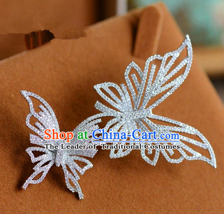 Traditional Jewelry Accessories, Princess Wedding Accessories, Bride Wedding Accessories, Baroco Style Handmade Butterfly Brooch for Women